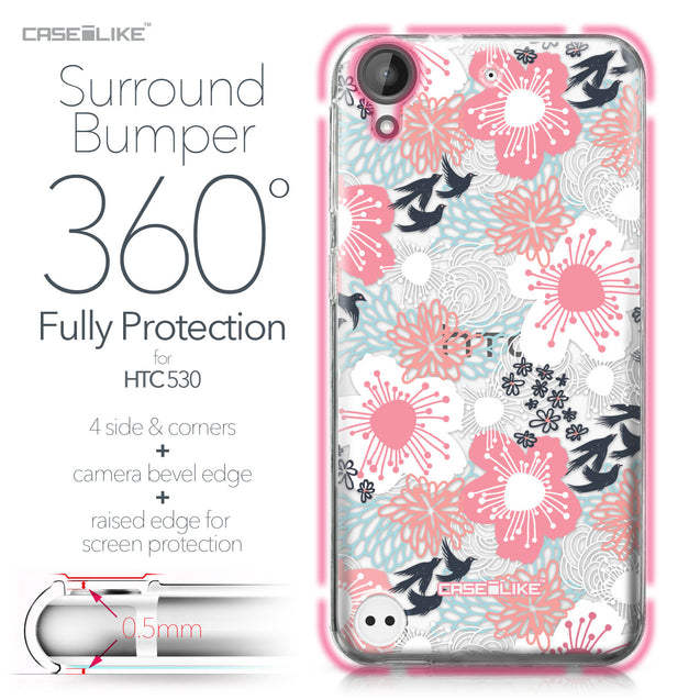 HTC Desire 530 case Japanese Floral 2255 Bumper Case Protection | CASEiLIKE.com