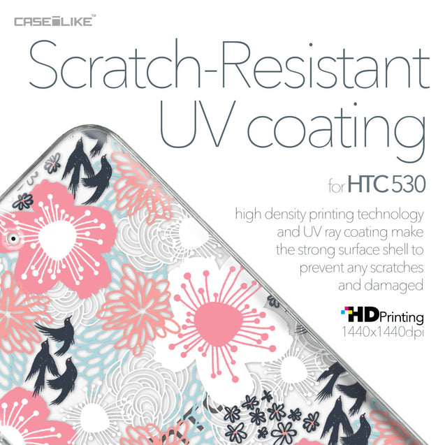 HTC Desire 530 case Japanese Floral 2255 with UV-Coating Scratch-Resistant Case | CASEiLIKE.com