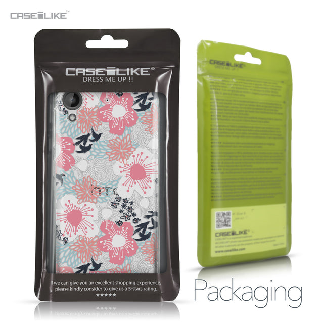 HTC Desire 530 case Japanese Floral 2255 Retail Packaging | CASEiLIKE.com