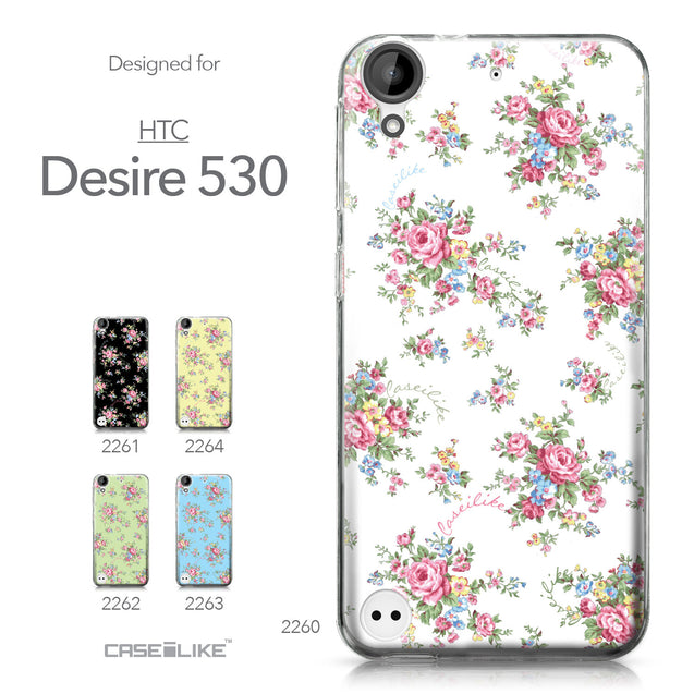 HTC Desire 530 case Floral Rose Classic 2260 Collection | CASEiLIKE.com