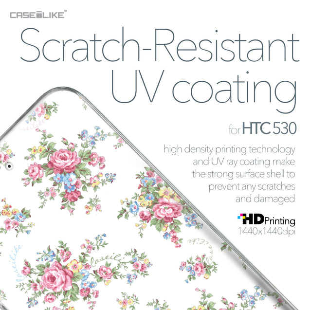 HTC Desire 530 case Floral Rose Classic 2260 with UV-Coating Scratch-Resistant Case | CASEiLIKE.com