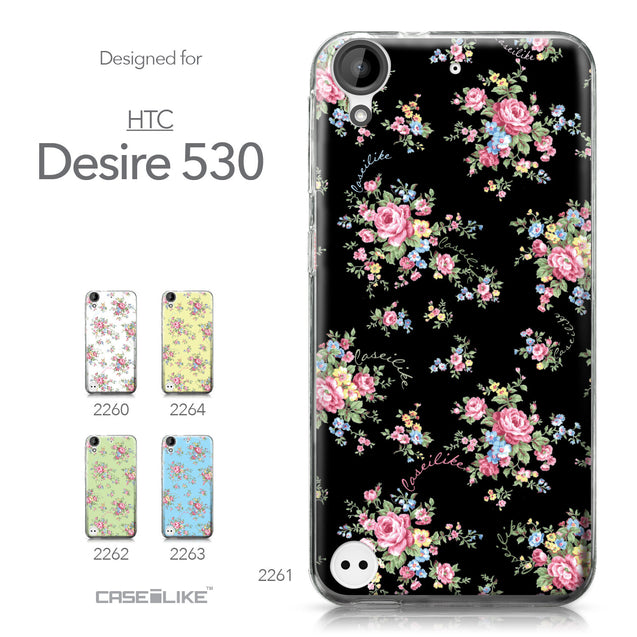HTC Desire 530 case Floral Rose Classic 2261 Collection | CASEiLIKE.com