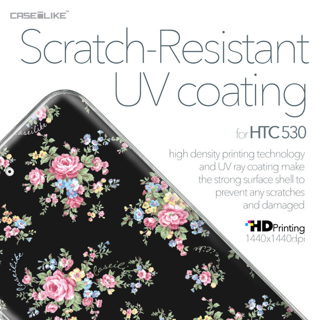 HTC Desire 530 case Floral Rose Classic 2261 with UV-Coating Scratch-Resistant Case | CASEiLIKE.com