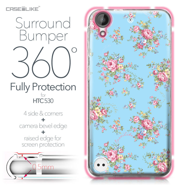 HTC Desire 530 case Floral Rose Classic 2263 Bumper Case Protection | CASEiLIKE.com