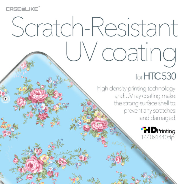 HTC Desire 530 case Floral Rose Classic 2263 with UV-Coating Scratch-Resistant Case | CASEiLIKE.com