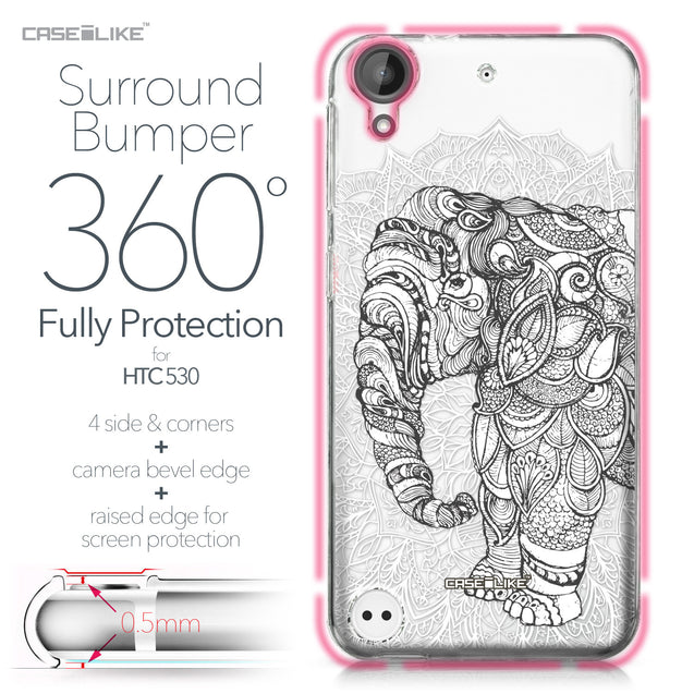 HTC Desire 530 case Mandala Art 2300 Bumper Case Protection | CASEiLIKE.com