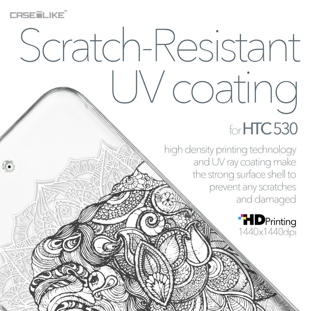 HTC Desire 530 case Mandala Art 2300 with UV-Coating Scratch-Resistant Case | CASEiLIKE.com