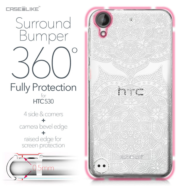 HTC Desire 530 case Mandala Art 2303 Bumper Case Protection | CASEiLIKE.com