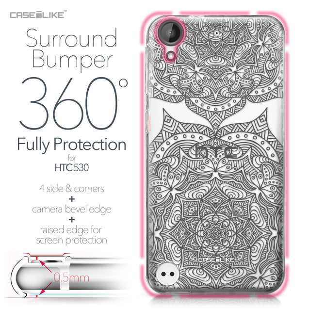 HTC Desire 530 case Mandala Art 2304 Bumper Case Protection | CASEiLIKE.com