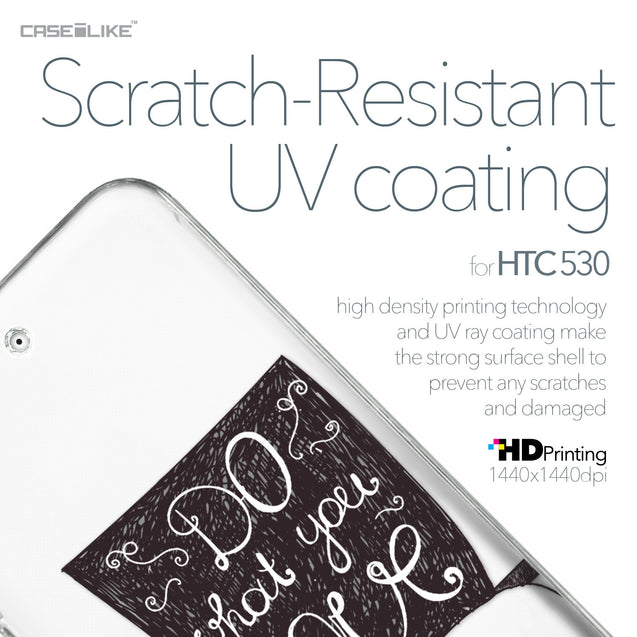 HTC Desire 530 case Quote 2400 with UV-Coating Scratch-Resistant Case | CASEiLIKE.com