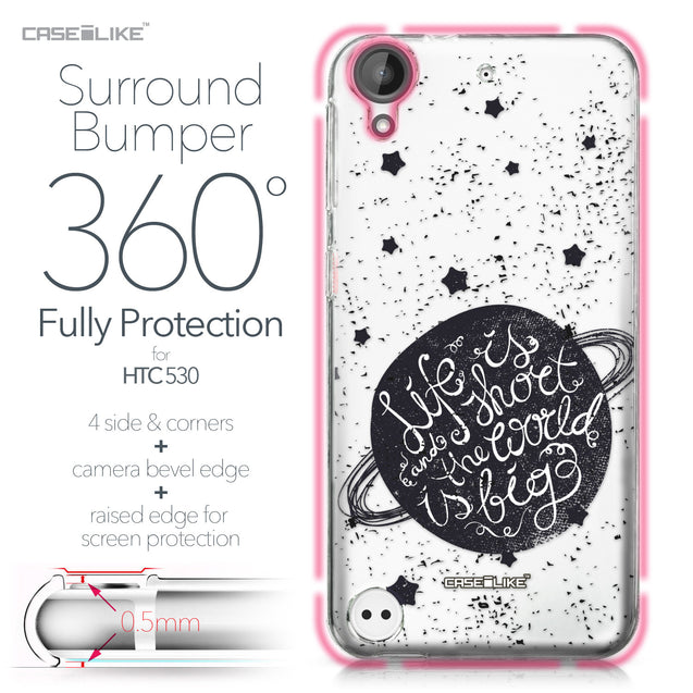 HTC Desire 530 case Quote 2401 Bumper Case Protection | CASEiLIKE.com