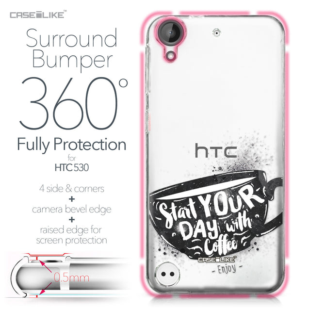 HTC Desire 530 case Quote 2402 Bumper Case Protection | CASEiLIKE.com