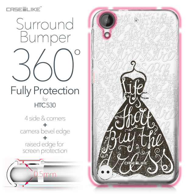 HTC Desire 530 case Quote 2404 Bumper Case Protection | CASEiLIKE.com