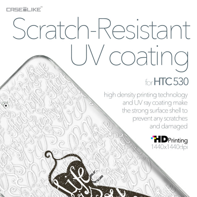 HTC Desire 530 case Quote 2404 with UV-Coating Scratch-Resistant Case | CASEiLIKE.com