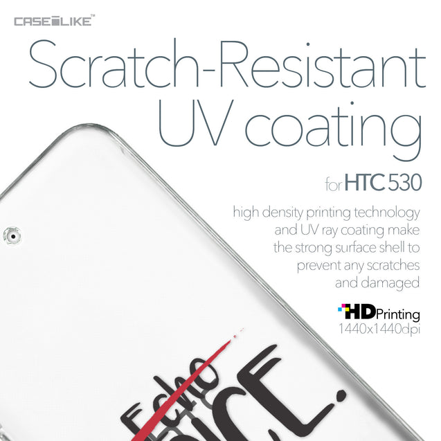 HTC Desire 530 case Quote 2405 with UV-Coating Scratch-Resistant Case | CASEiLIKE.com