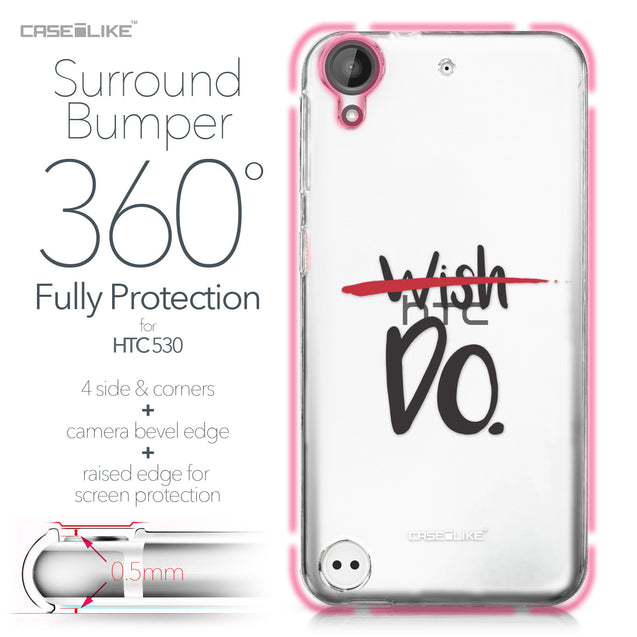 HTC Desire 530 case Quote 2407 Bumper Case Protection | CASEiLIKE.com