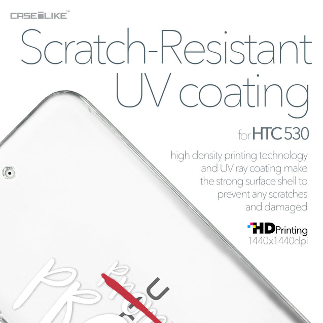 HTC Desire 530 case Quote 2409 with UV-Coating Scratch-Resistant Case | CASEiLIKE.com