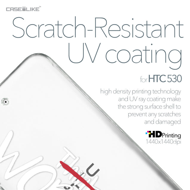 HTC Desire 530 case Quote 2411 with UV-Coating Scratch-Resistant Case | CASEiLIKE.com
