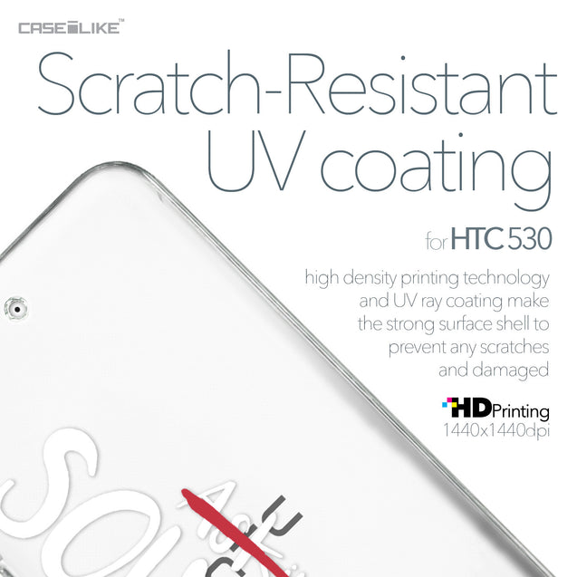 HTC Desire 530 case Quote 2412 with UV-Coating Scratch-Resistant Case | CASEiLIKE.com