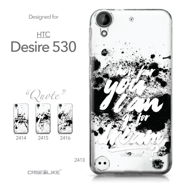 HTC Desire 530 case Quote 2413 Collection | CASEiLIKE.com