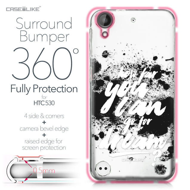 HTC Desire 530 case Quote 2413 Bumper Case Protection | CASEiLIKE.com