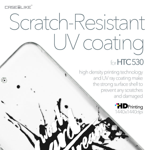 HTC Desire 530 case Quote 2414 with UV-Coating Scratch-Resistant Case | CASEiLIKE.com