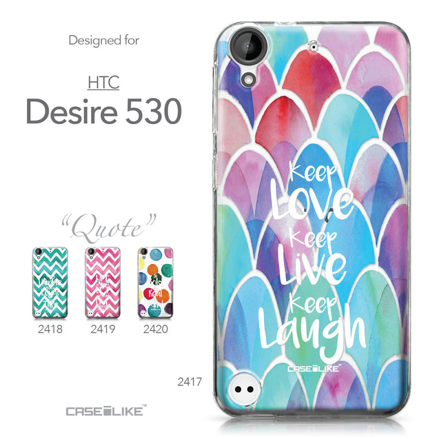 HTC Desire 530 case Quote 2417 Collection | CASEiLIKE.com