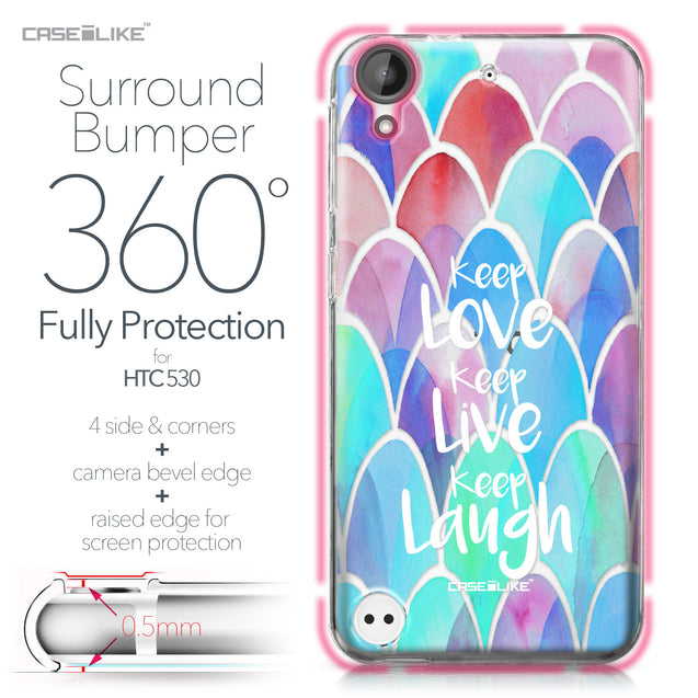 HTC Desire 530 case Quote 2417 Bumper Case Protection | CASEiLIKE.com