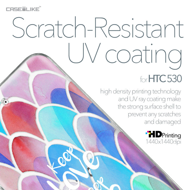 HTC Desire 530 case Quote 2417 with UV-Coating Scratch-Resistant Case | CASEiLIKE.com