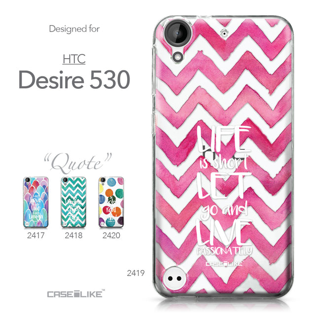 HTC Desire 530 case Quote 2419 Collection | CASEiLIKE.com