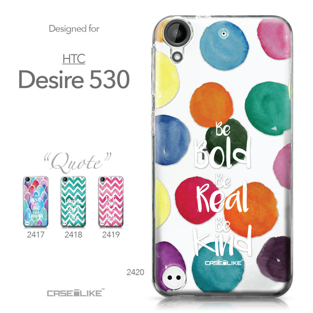 HTC Desire 530 case Quote 2420 Collection | CASEiLIKE.com
