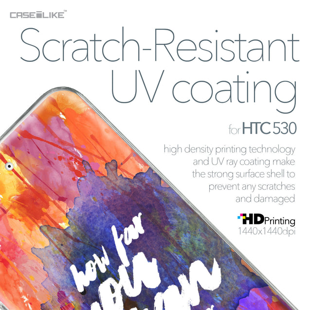 HTC Desire 530 case Quote 2421 with UV-Coating Scratch-Resistant Case | CASEiLIKE.com