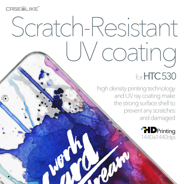 HTC Desire 530 case Quote 2422 with UV-Coating Scratch-Resistant Case | CASEiLIKE.com