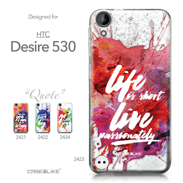 HTC Desire 530 case Quote 2423 Collection | CASEiLIKE.com