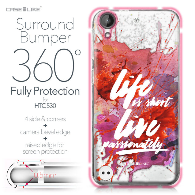 HTC Desire 530 case Quote 2423 Bumper Case Protection | CASEiLIKE.com