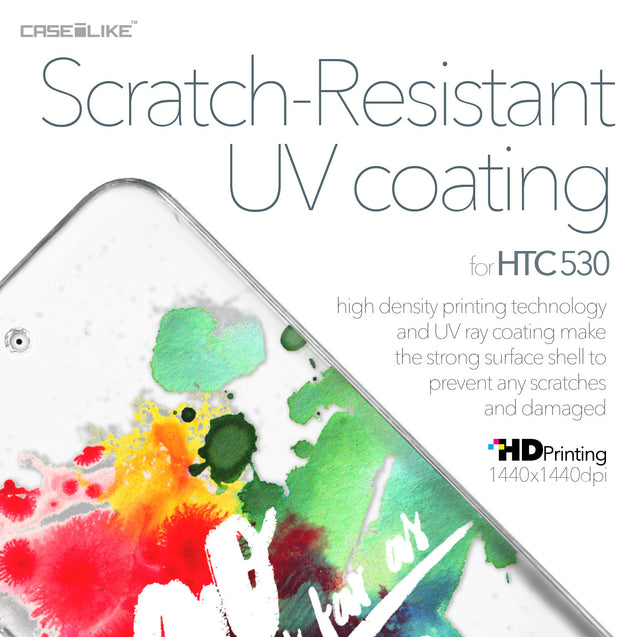 HTC Desire 530 case Quote 2424 with UV-Coating Scratch-Resistant Case | CASEiLIKE.com