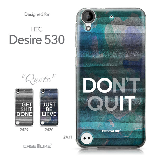 HTC Desire 530 case Quote 2431 Collection | CASEiLIKE.com