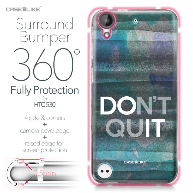 HTC Desire 530 case Quote 2431 Bumper Case Protection | CASEiLIKE.com