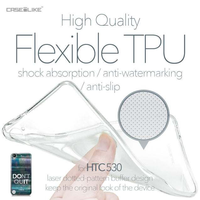 HTC Desire 530 case Quote 2431 Soft Gel Silicone Case | CASEiLIKE.com