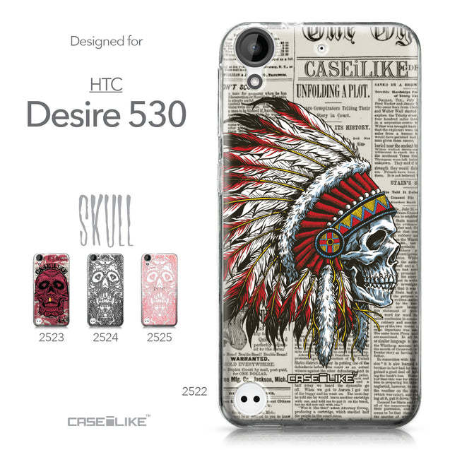 HTC Desire 530 case Art of Skull 2522 Collection | CASEiLIKE.com