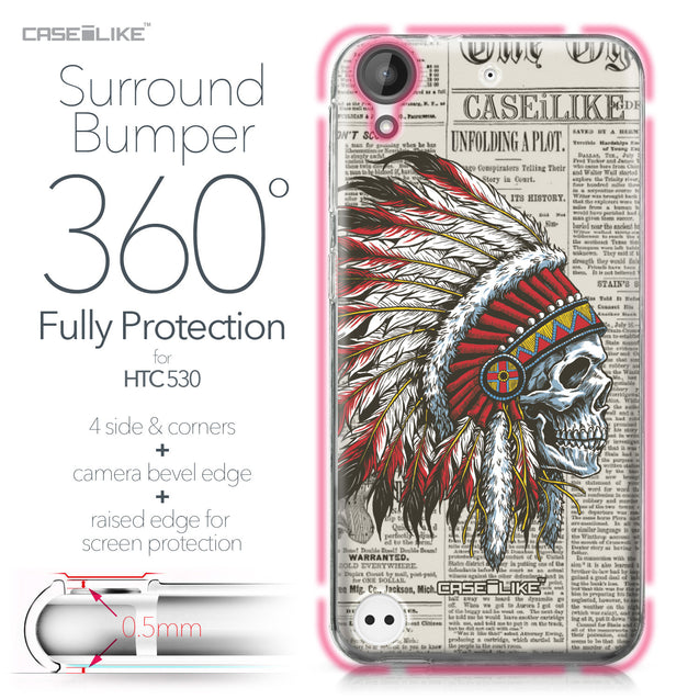 HTC Desire 530 case Art of Skull 2522 Bumper Case Protection | CASEiLIKE.com