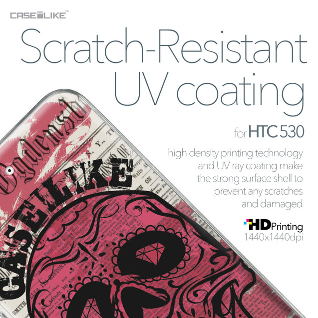 HTC Desire 530 case Art of Skull 2523 with UV-Coating Scratch-Resistant Case | CASEiLIKE.com