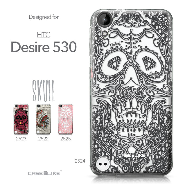 HTC Desire 530 case Art of Skull 2524 Collection | CASEiLIKE.com