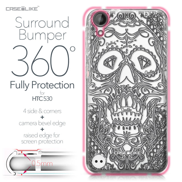 HTC Desire 530 case Art of Skull 2524 Bumper Case Protection | CASEiLIKE.com