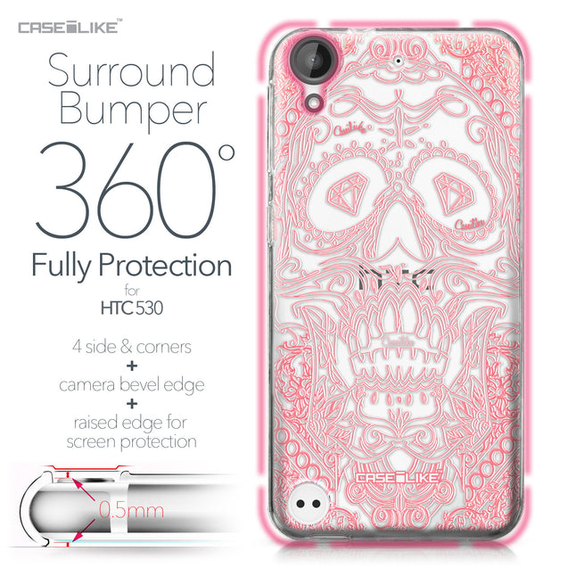 HTC Desire 530 case Art of Skull 2525 Bumper Case Protection | CASEiLIKE.com