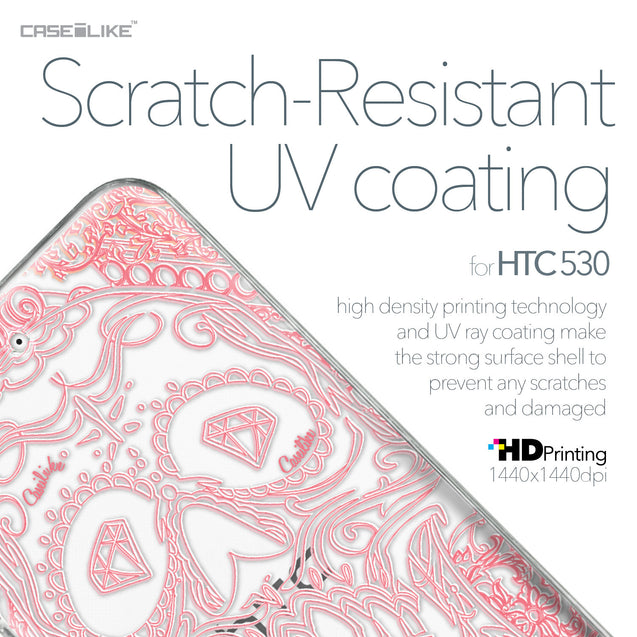 HTC Desire 530 case Art of Skull 2525 with UV-Coating Scratch-Resistant Case | CASEiLIKE.com