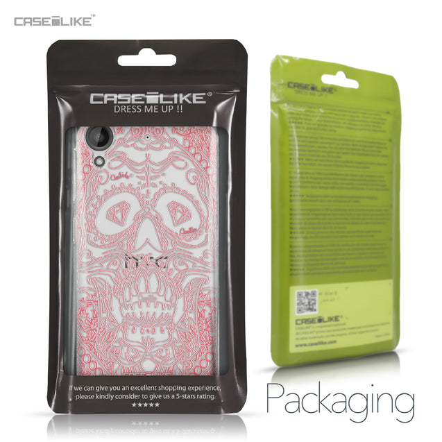 HTC Desire 530 case Art of Skull 2525 Retail Packaging | CASEiLIKE.com