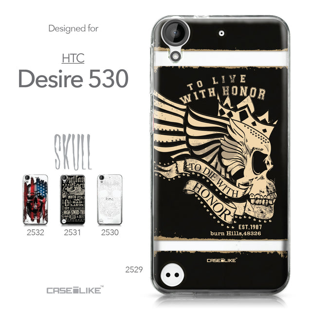HTC Desire 530 case Art of Skull 2529 Collection | CASEiLIKE.com