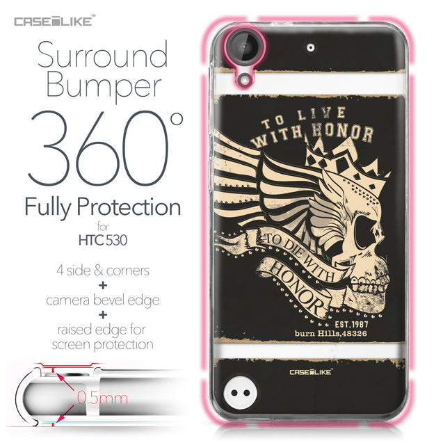 HTC Desire 530 case Art of Skull 2529 Bumper Case Protection | CASEiLIKE.com