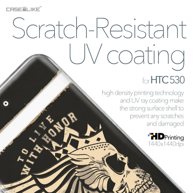 HTC Desire 530 case Art of Skull 2529 with UV-Coating Scratch-Resistant Case | CASEiLIKE.com